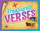 MYSTERY ISLAND VBS: BIBLE GEM MEMORY VERSES ROTATION SIGN