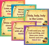MYSTERY ISLAND VBS: PRE-PRIMARY AND TODDLER MEMORY VERSE POSTERS