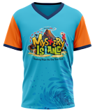 MYSTERY ISLAND VBS: STUDENT ATHLETIC T-SHIRT: A-XL