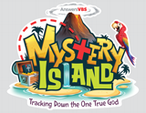MYSTERY ISLAND VBS: COLOR IRON-ON LOGO