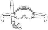 MYSTERY ISLAND VBS: SNORKEL MASK PAPER CUTOUT