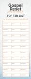 Gospel Reset Curriculum - Bookmark