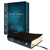 Henry Morris Study Bible (KJV): Black Genuine Leather